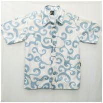 Camisa ondas branco/azul - 8 anos - PUC