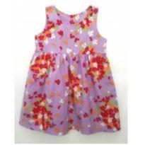 Vestido floral lilás - 1 ano - Tip Top