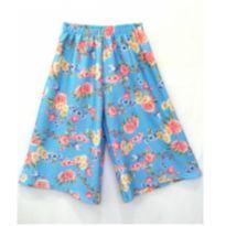 Calça Pantacourt Azul Floral - 4 anos - Soft Bonni