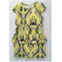 Vestido com sobreposição amarelo - 6 anos - Quimby