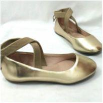 Sapatilha Bailarina Dourada - 27 - Sua Cia Mini