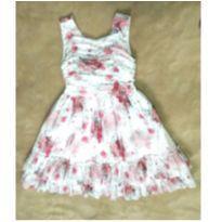 Vestido de festa floral com pedrinhas - 4 anos - Cattai