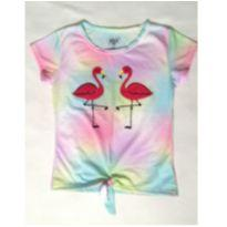 Blusa Flamingo Tie Dye - 10 anos - Gelly kids