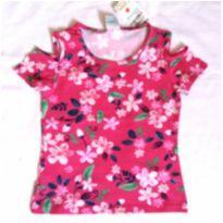 Blusa com ombros vazados floral - 8 anos - Malwee