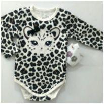 Body manga longa tigresa - 3 meses - Gelly Baby