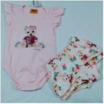 Conjunto Baby ursinha - 3 a 6 meses - Rolú
