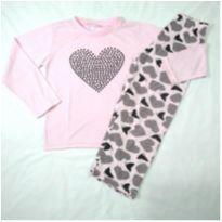 Pijama corações - 4 anos - Nacional