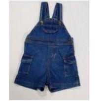 Jardineira jeans Baby - 9 a 12 meses - Lazy