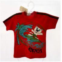 Camiseta Enjoy Vermelha - 3 anos - brincar é arte