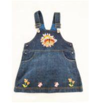 Salopete Jeans Bordada - 4 anos - Arranquei a etiqueta