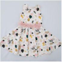 Vestido Floral Off White - 8 anos - Infanti