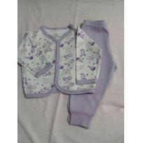 Pijama 100% algodão - 3 a 6 meses - Lua da Lenda