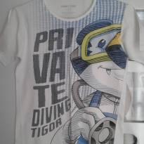 Camiseta Tigor - 8 anos - Tigor T.  Tigre