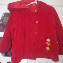 Jaqueta vermelha de veludo - 2 anos - art Kids