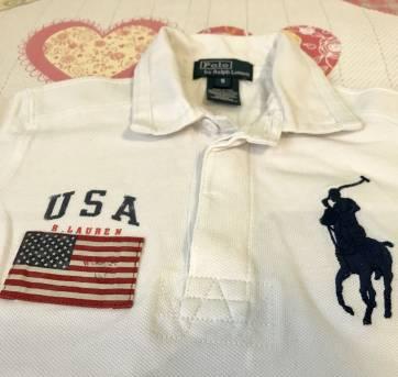 8c09b6eb59 Camiseta polo em algodão piquet importada original Ralph Lauren. Pequena  mancha nas costas