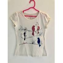 Camiseta manga curta Passarinhos LOVE - 4 anos - OshKosh