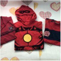 Kit 3 camisetas vermelhas tam 8 - 8 anos - Não informada