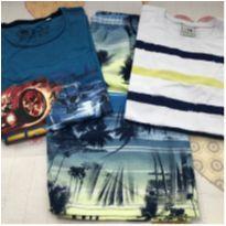 Kit bermuda + 2 camisetas tam 8 - 8 anos - Não informada