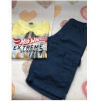 Kit bermuda + camiseta Hot Wheels novinha - 10 anos - Não informada