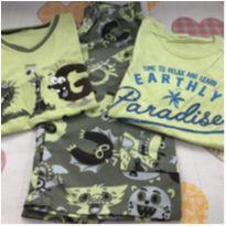 Kit bermuda + 2 camisetas - 8 anos - Zig Zig Zaa