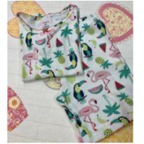 Pijama manga curta Flamingo e Tucano Carters - 5 anos - Carter`s