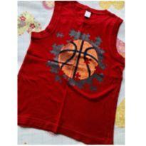 Camiseta regata vermelha quebra cabeça basquete - 8 anos - Gymboree