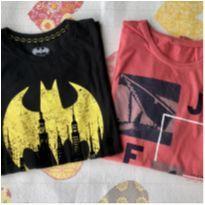 Kit 2 camisetas Batman e JFX - 10 anos - Não informada