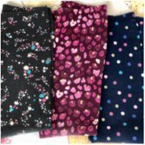 Kit 3 leggings estampadas estrelinha, bolinha, florzinha - 7 anos - OshKosh e Gymboree