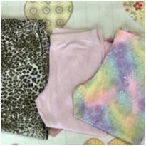 Kit 3 legging capri animal print, estampa e rosa bebê Tam 8 - 7 anos - Momi e Wonder Nation