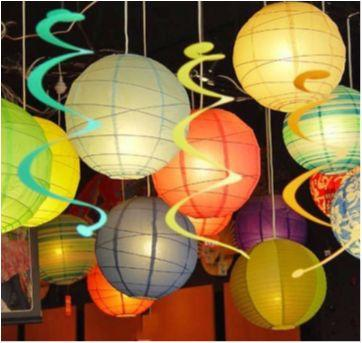 Kit 4 luminárias oriental para enfeite festa - Sem faixa etaria - Importada