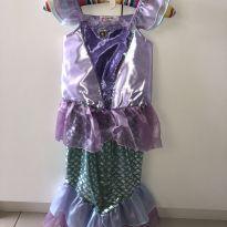 Fantasia Sereia Ariel 6 a 8 anos - 6 anos - Não informada