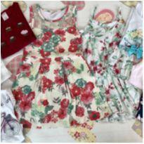 Lote roupas menina look completo tam 4 nº6 (brinde: meia calça) - 4 anos - Carter`s e Gymboree
