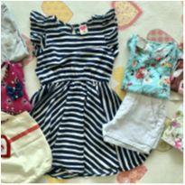 Lote Roupas Menina Look Completo Tam 6 nº3 (brinde:bolsinha de pano) - 6 anos - Tip Top e Zara Girls