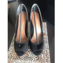Sapato Alto Preto - 36 - Não informada