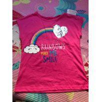 Camiseta Coração/Arco Iris - 6 anos - 365 Kids