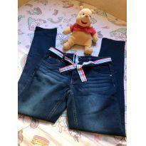 Calca jeans com Detalhes no cinto - 14 anos - Não informada