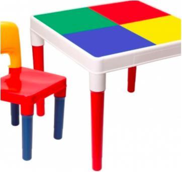 Mesinha Infantil Multi Colorida Plástico com cadeira - Sem faixa etaria - Bell toy