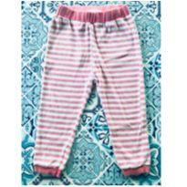 Calça de Plush listrada - 12 a 18 meses - Riachuelo