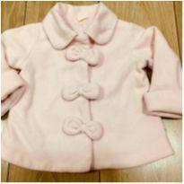 Casaco Soft Rosa Laços - 9 a 12 meses - C&A