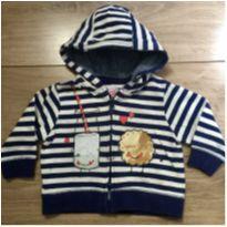 Blusa Moletom zíper e Capuz - 3 a 6 meses - Zara Baby