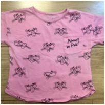 Camiseta Pantera Cor de Rosa - 3 anos - Riachuelo