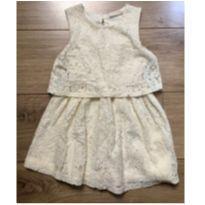 Vestido de Renda Off White - 3 anos - Riachuelo
