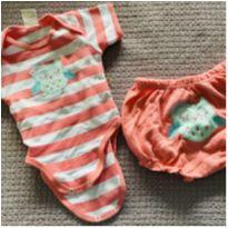 Conjunto body + shortinho - 3 a 6 meses - Best Club