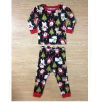 Conjunto tipo pijama Carter`s com estampa de Papai Noel - 1 ano - Carter`s