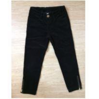 Calça Zara preta em veludo - 7 anos - Zara
