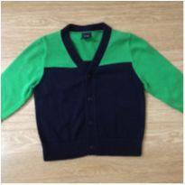 Casaquinho GAP verde e azul marinho - 12 a 18 meses - GAP