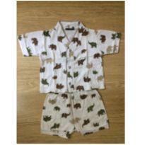 Pijama de Elefantinhos - 6 a 9 meses - mania de pijama