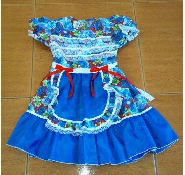 Vestido Festa Junina - 5 anos - Artesanal