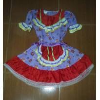 Vestido Festa Junina - 8 anos - Artesanal
