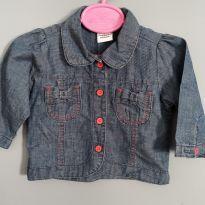 Jaqueta jeans fininho Lápis de Cor - 6 meses - Lápis de Cor